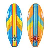 Dětský surf Sunny Rider, 1,14m x 46cm – mix 2 barvy (modrá,oranžová)