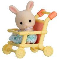 Baby příslušenství - králík v kočárku