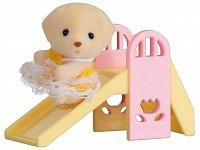 Baby příslušenství - pejsek na skluzavce